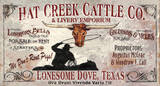 Lonesome Dove Vintage Wood Sign