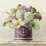Tulips in Aubergine Hatbox