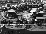 University of Washington - Black and White Aerial of Husky Stadium