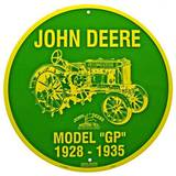 John Deere - Model GP Tin Sign