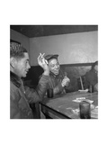 Tuskegee Airmen Playing Cards in the Officers