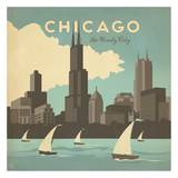 Chicago, The Windy City Square Art Print