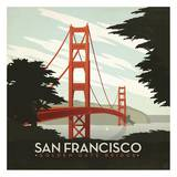 San Francisco Golden Gate Bridge Square Art Print