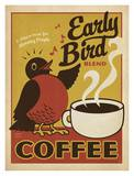 Early Bird Coffee Art Print