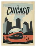Chicago The Cloud Gate Art Print