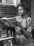 Poet Gwendolyn Brooks with Copy of Maud Martha, in 1963.