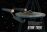 Buy Star Trek - Enterprise Ship - Space the Final Frontier at AllPosters.com