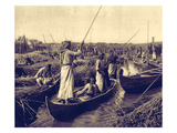 Marsh Arabs - Village Canal in the Swamps of the Lower Euphrates