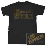 Led Zeppelin - Square Gold Logo Poster Art