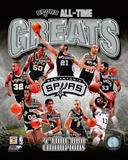 San Antonio Spurs All-Time Greats Composite