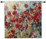 Red Poppy Field II Wall Tapestry