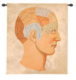 Vintage Phrenology Wall Tapestry