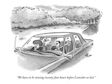 """We have to be missing twenty-four hours before I consider us lost."" - New Yorker Cartoon,"