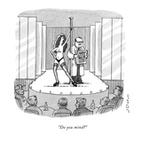 """Do you mind?"" - New Yorker Cartoon"