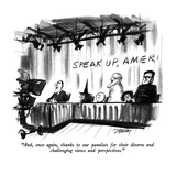 """And, once again, thanks to our panelists for their diverse and challengin…"" - New Yorker Cartoon"