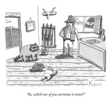 """So, which one of you varmints is mine?"" - New Yorker Cartoon"