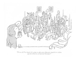 """From all I've heard, it's going to take more than any snapshot to soften ?"" - New Yorker Cartoon"
