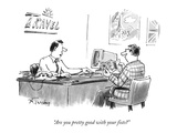 """Are you pretty good with your fists?"" - New Yorker Cartoon"