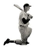 Ted Williams (Kneeling) Boston Red Sox Lifesize Standup Poster