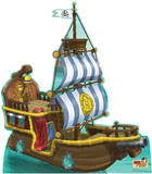 Bucky Pirate Ship - Jake and the Neverland Pirates Lifesize Standup Poster