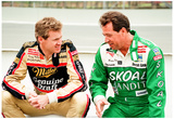 Harry Gant and Rusty Wallace Pocono 1990 Archival Photo Poster
