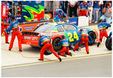Jeff Gordon Pit Stop Archival Photo Poster