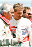 Rusty Wallace and Roger Penske 1989 Archival Photo Poster