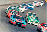 Champion 400 Nascar Race 1987 Archival Photo Poster