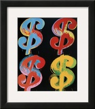 Four Dollar Signs, c.1982 (blue, red, orange, yellow)
