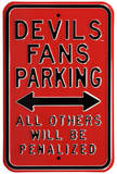 Devils Penalized Parking Steel Sign
