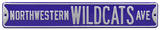 Northwestern Wildcats Ave Steel Sign