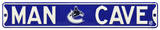 Man Cave Vancouver Canucks Steel Sign