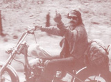 Easy Rider - Dennis Hopper Middle Finger Sepia