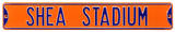 Shea Stadium Orange Steel Sign