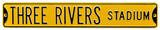 Three Rivers Stadium Steel Sign