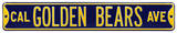 Cal Golden Bears Ave Steel Sign