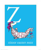Z is for Zizzer Zazzer Zuzz (blue) Unless Someone Cares (green) Cat in the Hat Blue Collection I - The Cat in the Hat with Fish (blue) Oh the Places Youll Go The Cat in the Hat (on yellow)