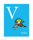 V is for Violin (blue)
