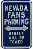Nevada Fans Rebels Towed Parking Steel Sign