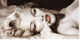 Reclined Marilyn Stretched Canvas Print