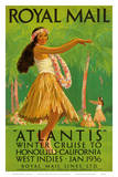"Buy Hawaii Hula, Royal Mail ""Atlantis"" c.1936 at AllPosters.com"