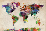 Buy World Map Urban Watercolour at AllPosters.com