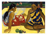 Two Woman of Tahiti. Parau Api (What's New?) 1892
