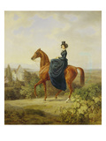 Countess Caroline Waldbott Von Bassenheim on Horseback in Front of Castle Leutstetten