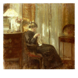 A Woman Sewing in an Interior