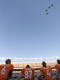 Denver Broncos - Sept 9, 2012: Flyover at Mile High