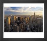 New York City, Manhattan, View of Downtown and Empire State Building from Rockerfeller Centre, USA