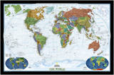 National Geographic - World Decorator Map, Enlarged & Laminated Poster Laminated Poster