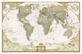 National Geographic - World Executive Map Laminated Poster Laminated Poster