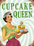 Cupcake Queen Tin Sign